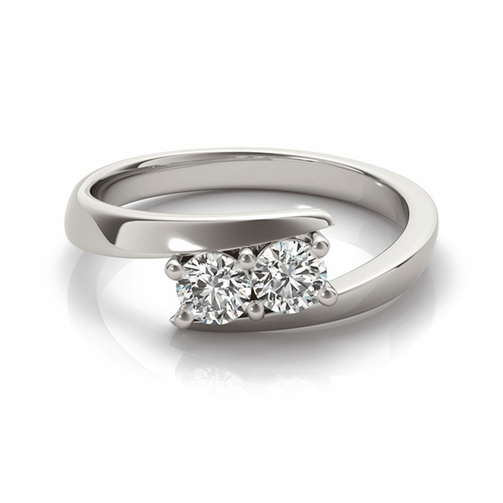Two-Stone Forever Us Ring 1 8 ct tw Diamonds 14K White Gold