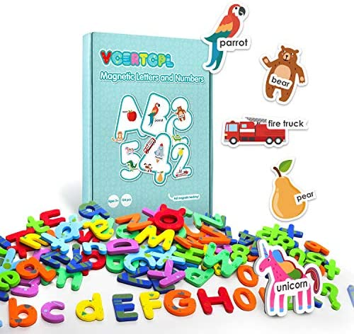 Vcertcpl Magnetic Letters and Numbers for Toddlers 134pcs Alphabet Magnets for Fridge-Magnets for Kids Educational Toy Gift for Kids