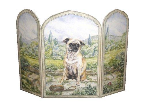Stupell Home Décor 3 Panel Decorative Dog Fireplace Scree...
