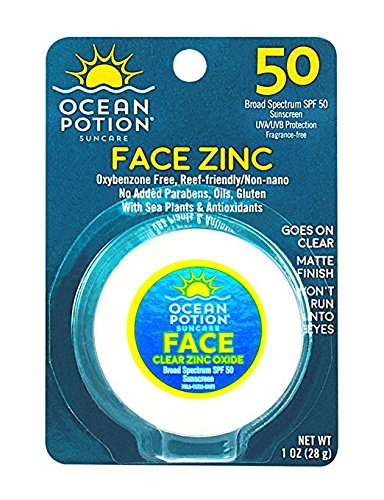 Ocean Potion Face Potion Clear Zinc SPF 45-1 oz, 2 pack