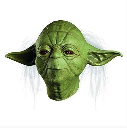 Máscara De Fiesta Star Wars Yoda Deluxe Traje Máscara De ...