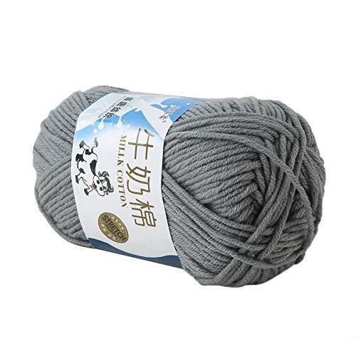 Weshcun - Ovillo de lana de algodón para tejer con fibra de ...