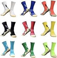 KEESOX Anti Slip Soccer Socks - Athletic Non Slipping Grip Basketball Socks for Boys & G