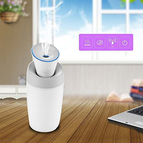 For Sale! Mini Humidifier, Pandawill USB Portable Cool Mist Water Humidifier Silent Air Purifier wit...