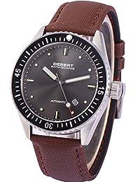 43mm Debert Ceramic Bezel Automatic Citizen Mechanical Sapphire Glass Men's Watch
