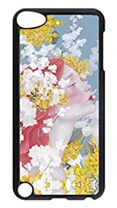Brian114 Case, iPod Touch 5 Case, iPod Touch 5th Case Cover, Beautiful Flower Faery Retro Protective Hard PC Back Case for iPod Touch 5 ( Black )