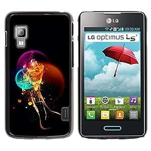 Be Good Phone Accessory // Dura Cáscara cubierta Protectora Caso Carcasa Funda de Protección para LG Optimus L5 II Dual E455 E460 // Fantasy Mystical Lion