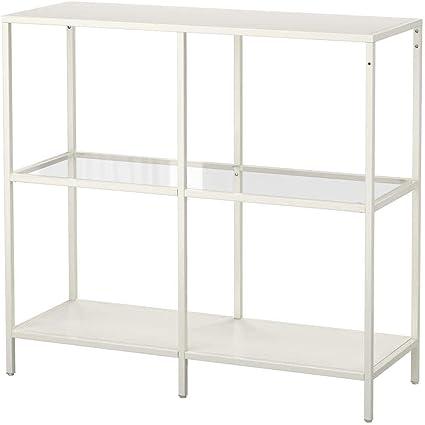 IKEA 103.058 VITTSJO - Estantería (cristal), color blanco ...