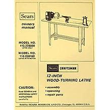 CRAFTSMAN 113.228000 & 113.228160 Wood Lathe Owner's Parts Manual
