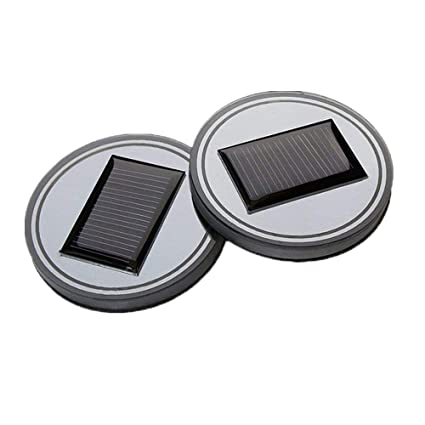 Pack de 2, onerbuy Solar LED – alfombrilla de coche taza soporte para botella de