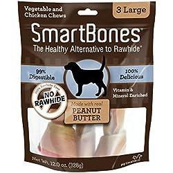 SmartBones Peanut Butter Dog Chew, Large, 3 pieces/pack
