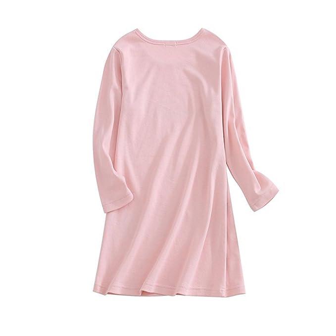 d7d2c32943 BAIYIXIN Girls Kids Organic Cotton Nightgown Sleepwear Dress Soft Home  Dress Autumn Long Sleeve Soft Wear Clothing