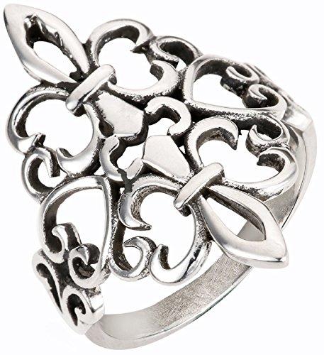 CloseoutWarehouse Sterling Silver Noble Fleur De Lis Ring Size ()