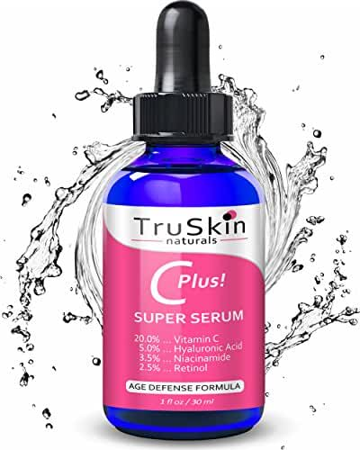 Vitamin C-Plus Super Serum for Face - All-In-One Serum with 20% Vitamin C, Niacinamide, Retinol, Hyaluronic Acid & Salicylic Acid – Reduces Fine Lines, Dark Spots & Evens Skin Tone -1oz