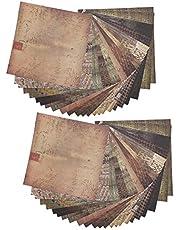 48 Vellen DIY Plakboekalbum Album Plakboekpatroon Wenskaarten Achtergrondpapier Ongewenste Journal Kaartdecorateur 5.9 x 5.9in