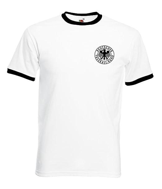 Camiseta de fútbol de Alemania, diseño retro: Amazon.es: Ropa y accesorios