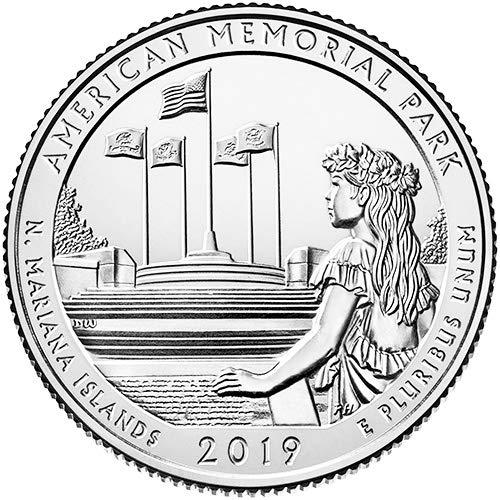 2019 S Silver Proof American Memorial Park Northern Mariana Islands National Park NP Quarter GEM Proof US - Quarters Silver American