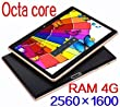 Black Tablet 10.1 inch Octa Core Android 5.1 PCs Graphic 4GB RAM HD 2560X1600 IPS Display 64GB ROM 3G Dual sim card Phone Call Camera WiFi GPS FM Bluetooth 10 inch Tablet 7 8 9 9.7 computer fire