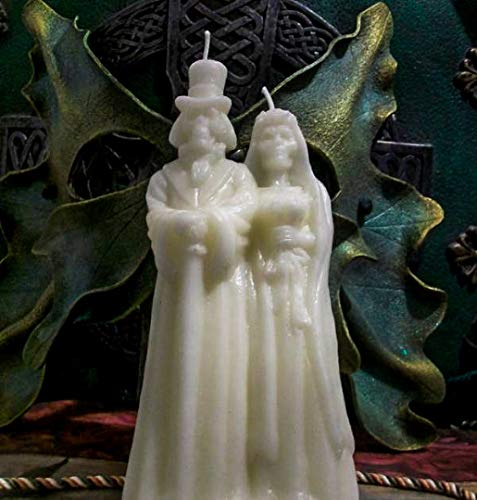Skeletal Wedding Bride Groom Beeswax Candle FREE USA SHIPPING]()