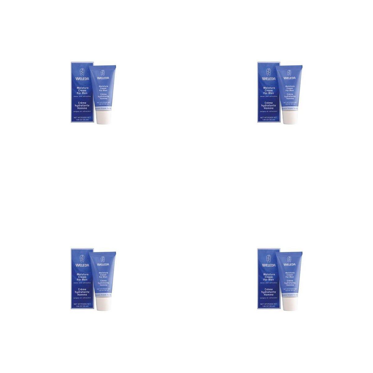 (4 PACK) - Weleda Moisture Cream For Men   30ml   4 PACK - SUPER SAVER - SAVE MONEY
