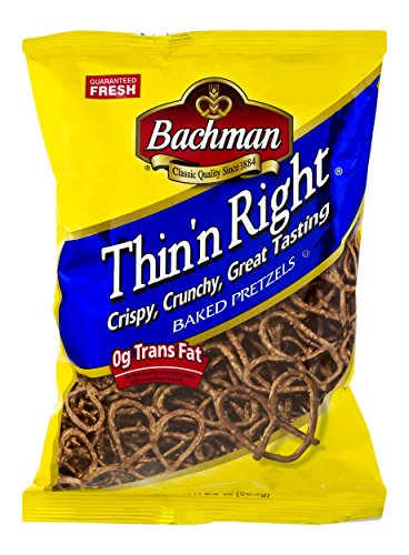 Bachman Pretzels Thinn Right 3.5 oz (4 Bags)