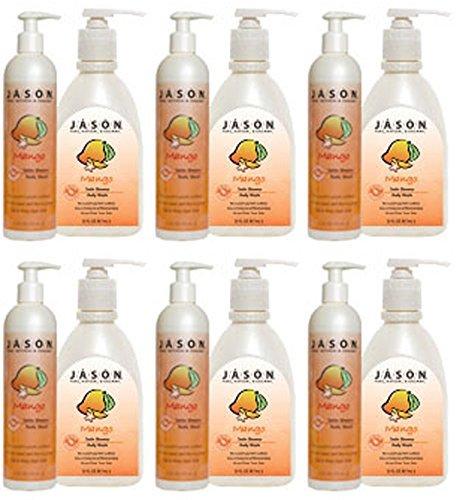 - - Jason Bodycare - Mango/Papaya Satin Body Wash | 900ml | BUNDLE by Jasons Natural