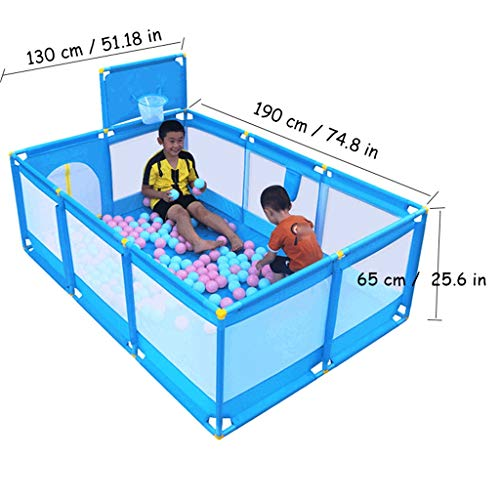 Playpen Kids Ball Pit, Large Toddler Ball Pits Tent for Toddlers, Children for Indoor Outdoor Baby Ball Pool Playpen with Zipper Door, Balls Not Included (Blue) by CGF- Baby Playpen (Image #1)