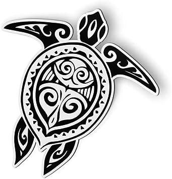 Amazon Com Ak Wall Art Sea Turtle Tattoo Tribal Magnet Car Fridge Locker Select Size Automotive