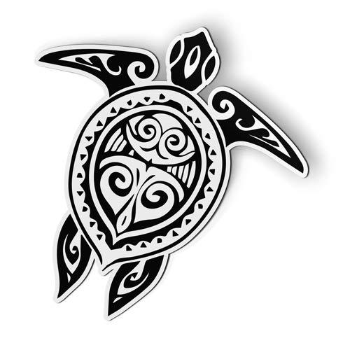 AK Wall Art Sea Turtle Tattoo Tribal - Magnet - Car Fridge Locker - Select Size