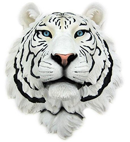(Private Label White Tiger Head Mount Wall Statue Bust)