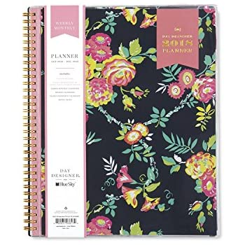 """Day Designer for Blue Sky 2018 Weekly & Monthly Planner, Twin-Wire Binding, 8.5"""" x 11"""", Peyton Navy"""