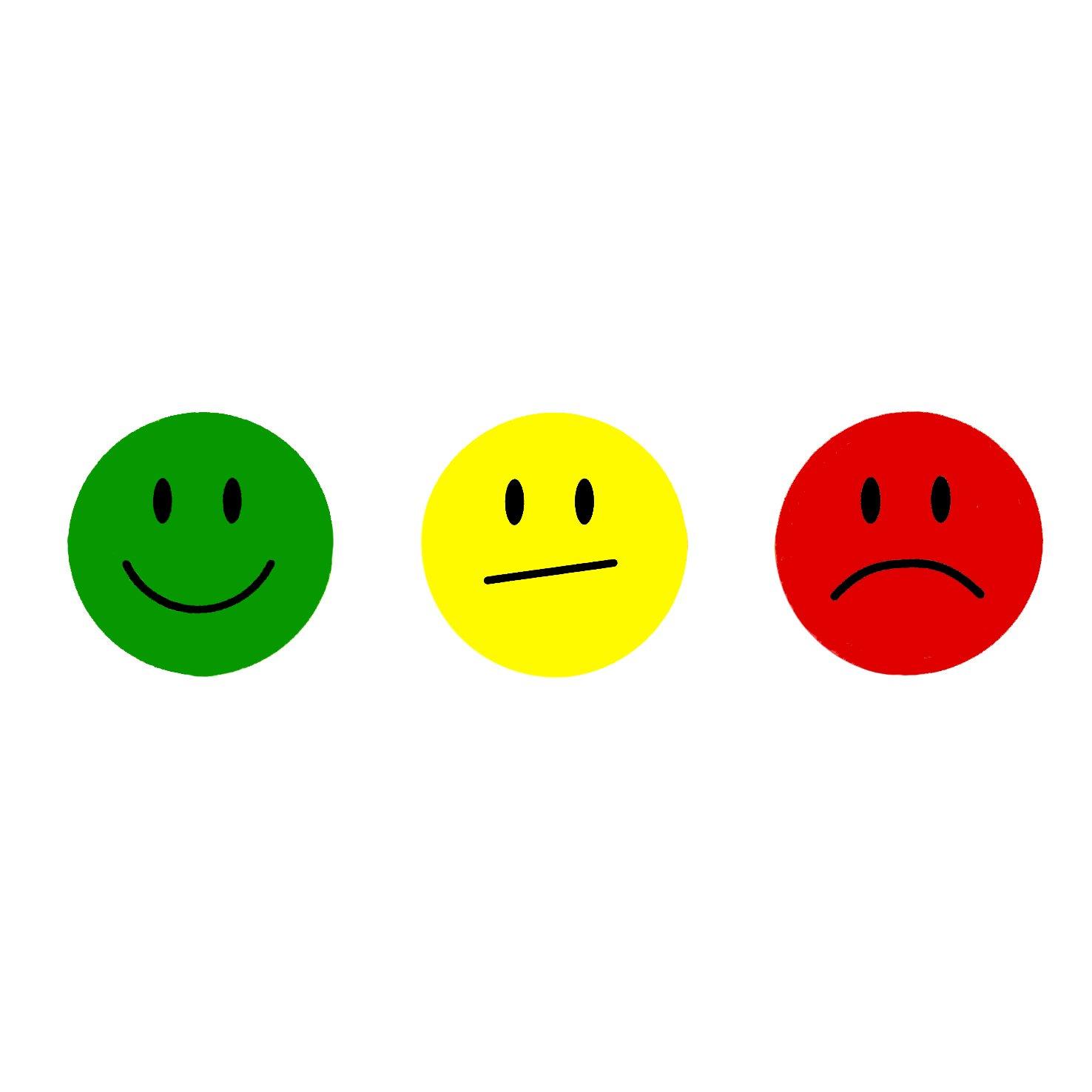 2CM Oblique-Unique/® 180 Yellow Smiley Face Sticker