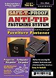Safe-T-Proof STP-MP-201-BL-01 Furniture Fastening Kit, Black