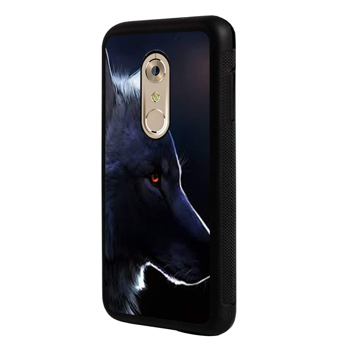LG Q7 Case,LG Q7 Plus Case,BOSLIVE Wolf Background Design TPU Slim Anti-Scratch Protective Cover Case for LG Q7 /LG Q7 Plus