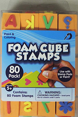 PAINT AND COLORING FOAM CUBE STAMPS