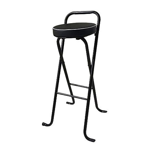 Amazon.com: LBST Taburete plegable redondo acolchado, silla ...