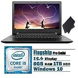Lenovo IdeaPad 15.6'' Premium High Performance Laptop Bundle, Intel Core i5(2.3-2.8 GHz), 8GB DDR4 RAM, 1TB HDD, DVD RW Drive,Screen Cleaning Clothes, Webcam, Windows 10