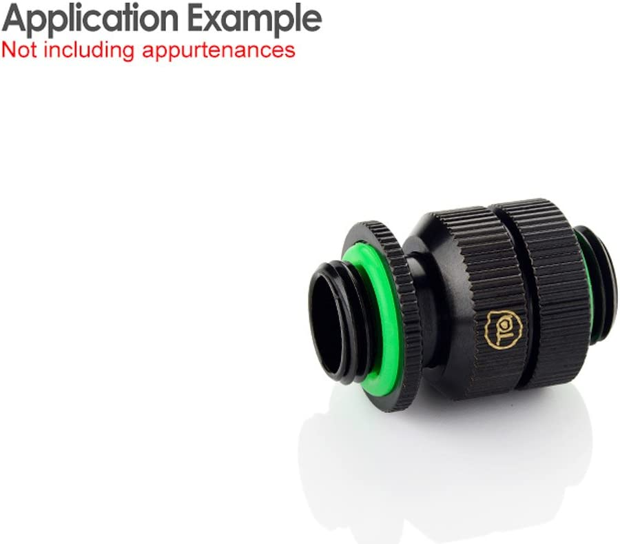 Glorious Black Bitspower Touchaqua Male G1//4 to Male Adjustable Link Pipe 16-22MM