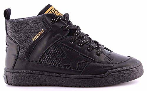 Zapatos Hombres Sneakers Alta GOLDEN GOOSE GCOU594.A1 Noah Black Negro Italy New