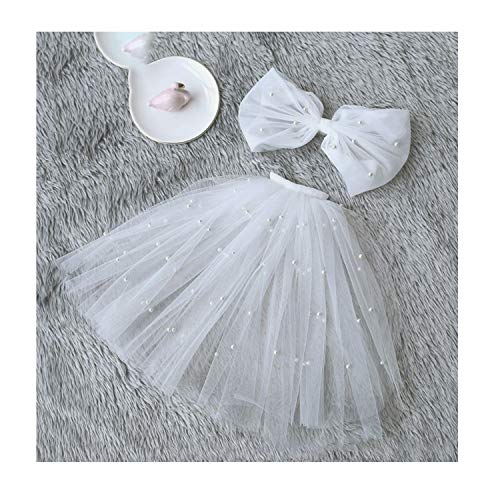 Tulle Wedding Dress Veils White Bowknot Multi Layer Bridal Fluffy Hair Veil Comb Fake Pearls Bride,A (Best Primer For Bridal Makeup)