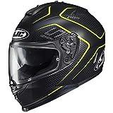 HJC IS-17 Lank Helmet (Black/Hi-Vis, Medium) XF-10-0818-1633-05