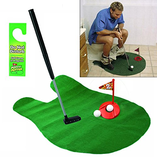 Fly tree Potty Putter Putting Mat Golf Game
