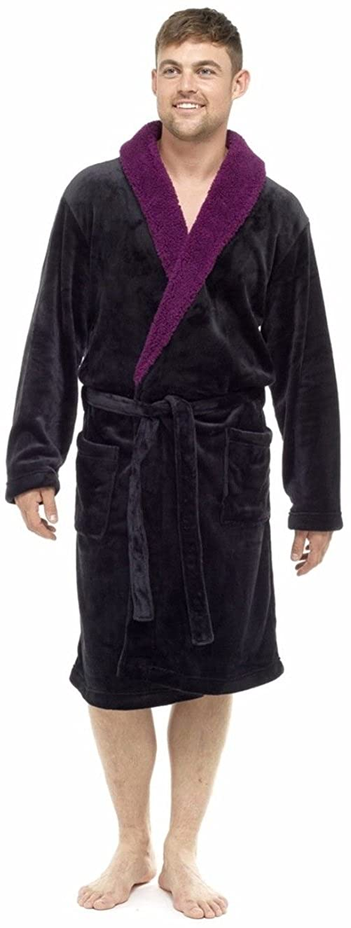 MICHAEL PAUL Men\'s Luxury Soft Fleece Dressing Gown: Amazon.co.uk ...