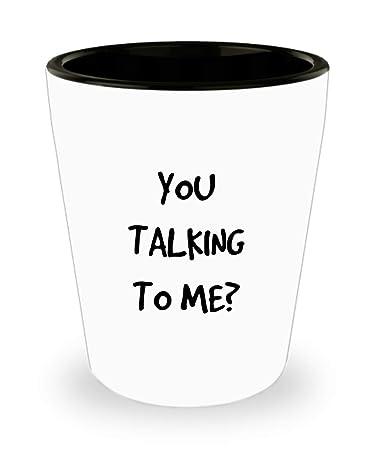 Amazoncom You Talking To Me Shot Glass Movie Fan Barware Taxi