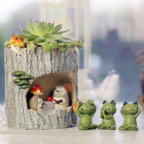 BESTOMZ Cactus Succulent Plant Pot Planter Flower Pot Pen Pencil Holder (Fairy Hedgehog) by BESTOMZ (Image #5)