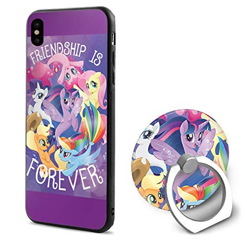LightCa My Little Pony Película Friendship Is Forever IPhone X Mobile Phone Shell Ring Bracket White -
