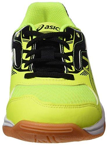 Asics Upcourt 2 GS, Zapatos de Voleibol Unisex Niños Amarillo (Safety Yellow/dark Grey/black 0795)