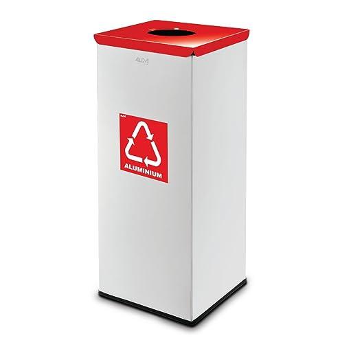 Mülleimer Für Plastik Eckig Abfalltrennung Abfalleimer Mülltrennung Gelber  Sack Weiß/rot (Füllmenge Ca.