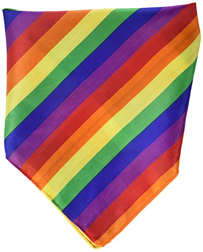 Beistle 60871 Rainbow Bandana, 22 by 22-Inch