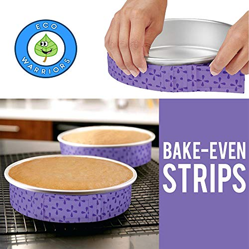 Cake Pan Strips Bake Even Cake Strips for Even Baking, Cake Pan Wrap Bake Even Strip Cake Pan Dampen Strips Bake Even Strip Belt Even Bake Cake Strips and Cake Even Bake Strips (1 Strip) -